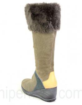Удобни дамски ботуши FANTASIA от естествен велур