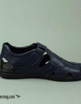 Тъмносини затворени мъжки сандали