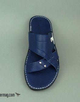 Ефектни мъжки чехли в син цвят