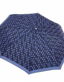 Samsonite тройно сгъваем син автоматичен чадър на точки