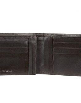 Mъжки черен портфейл Samsonite от естествена кожа