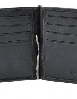 Samsonite - Черен мъжки портфейл от естествена кожа