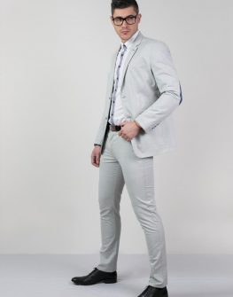 Мъжки костюм в сиво Styler