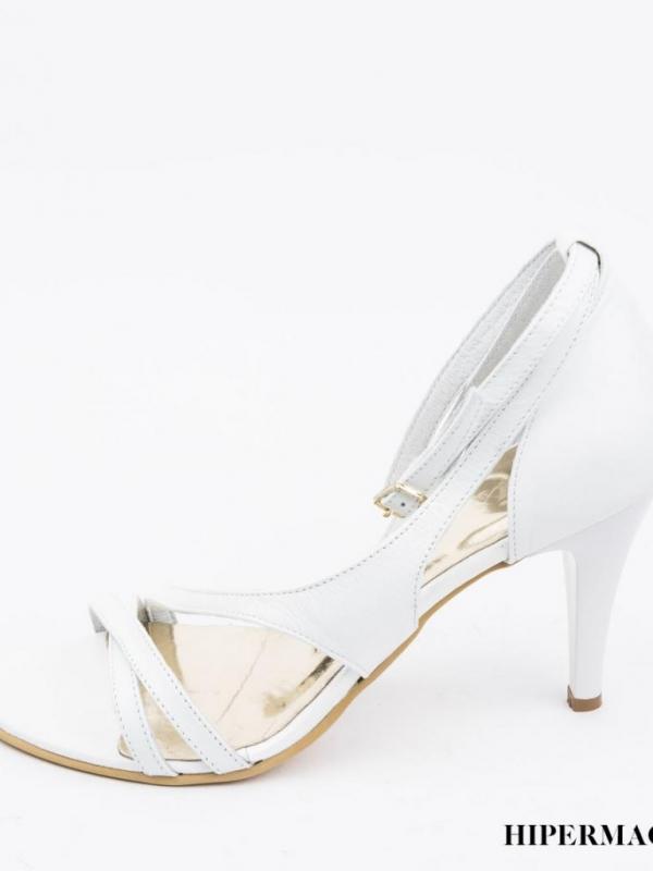 Високи дамски сандали в бял цвят Balis