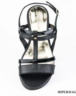 Ниски черни сандали Balis