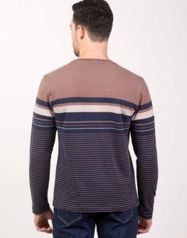 Мъжка блуза в кафяво и синьо Styler