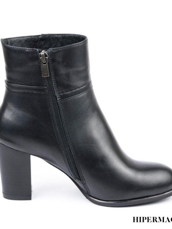 Черни дамски боти от естествена кожа Sara Pen