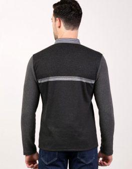 Тъмносив мъжки пуловер Styler