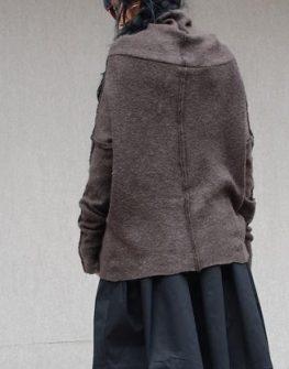 Кафяв дамски пуловер Kotyto