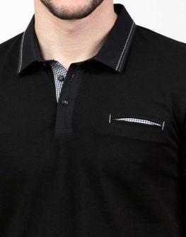Черна блуза с къс ръкав Styler