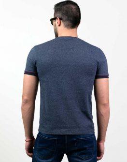 Мъжка блуза с къс ръкав Styler в тъмносиньо