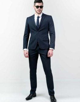 Тъмносин мъжки костюм Styler