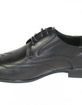 Мъжки обувки Sara Pen от естествена кожа в черно