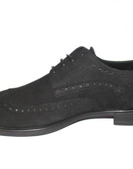 Черни обувки Sara Pen от набук