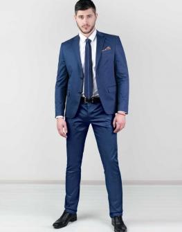 Елегантен син костюм Styler