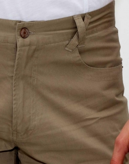 Къс мъжки панталон в кафяво Styler