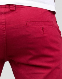 Къс мъжки панталон в червено Styler