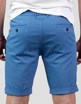 Син къс мъжки панталон Styler
