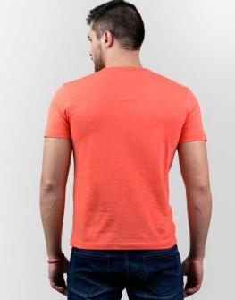 Свежа блуза с къс ръкав Styler в оранжево