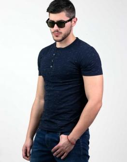Мъжка тениска в тъмносиньо Styler