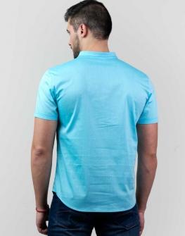 Светлосиня мъжка риза Styler