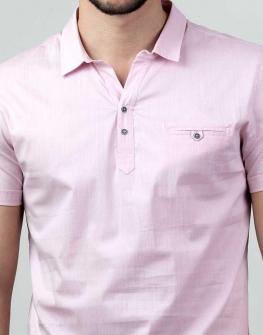 Риза с къс ръкав в бледорозово Styler