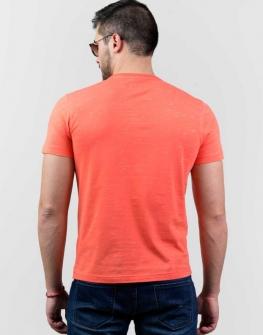 Оранжева блуза с къс ръкав Styler