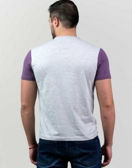 Тениска в сиво и лилаво Styler