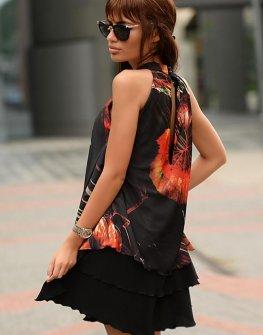 Ефектна къса рокля DPmoda