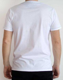 Бяла тениска с щампа Styler