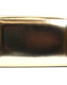 Клъч от естествена кожа в златисто Sara Pen