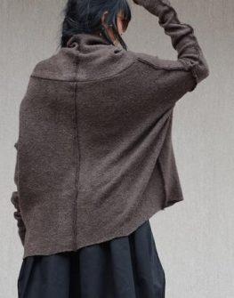 Кафяв дамски пуловер ПРОМО