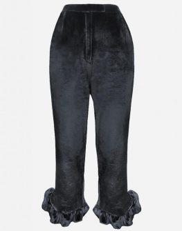 Екстравагантен кадифeн панталон PULSE
