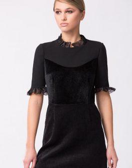 Дизайнерска черна рокля PULSE