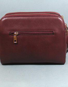 Стилна дамска чанта в червено Sara Pen