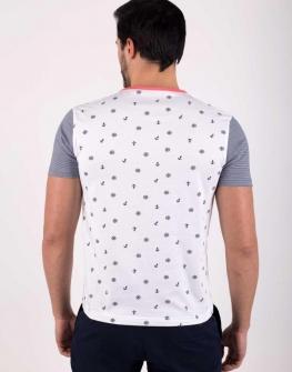 Мъжка тениска с щампа в бяло Styler