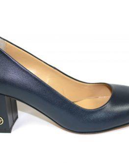 Тъмносини дамски обувки Sara Pen с нисък ток