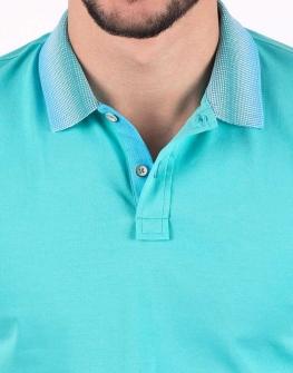 Мъжка блуза в тюркоаз - STYLER