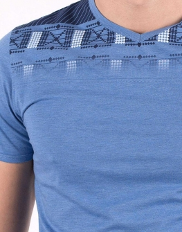 Мъжка тениска в синьо от STYLER