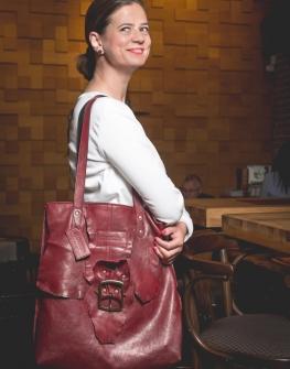 Красива дамска чанта от естествена кожа Colosseum