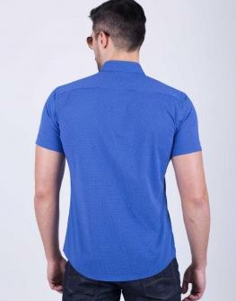 Мъжка риза STYLER в кралско синьо