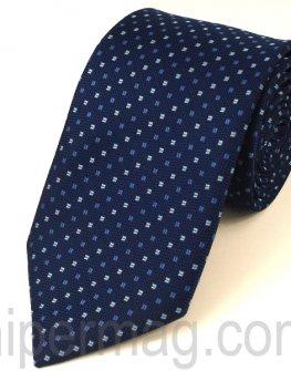 Мъжка вратовръзка New Line - тъмно синя на квадратчета