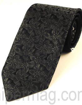 Мъжка вратовръзка New Style Collection -  черно и сиво