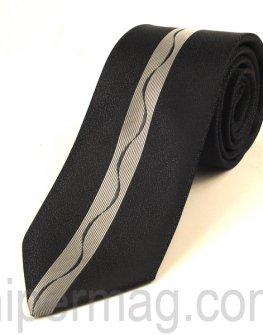 Мъжка вратовръзка New Style Collection - сива лента