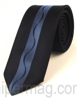 Мъжка вратовръзка New Style Collection - синя лента