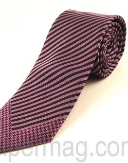 Мъжка вратовръзка New Line - лилави раета