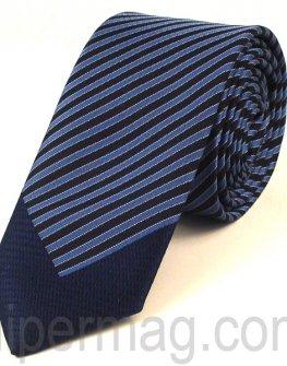 Мъжка вратовръзка New Line - сини раета