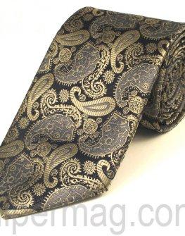 Мъжка вратовръзка New Line - сива с шарки