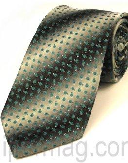 Мъжка вратовръзка New Line - сива на точки