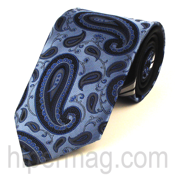 Мъжка вратовръзка New Style Collection - черно и синьо